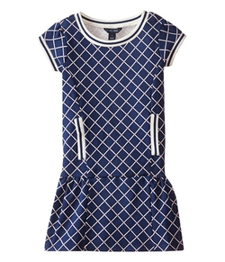 Printed French Terry Dress by Tommy Hilfiger Kids in Black-ish