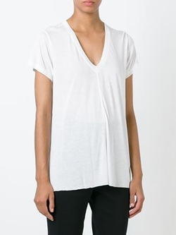 V-Neck T-Shirt by Helmut Lang in Burnt