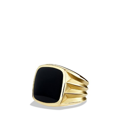 Knife-Edge Signet Ring With Black Onyx by David Yurman in John Wick