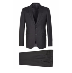 Two-Button Wool And Silk Suit by Armani Collezioni in Power