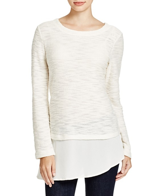Sophia Split-Back Layer Sweater by XCVI  in Pretty Little Liars - Season 6 Episode 17
