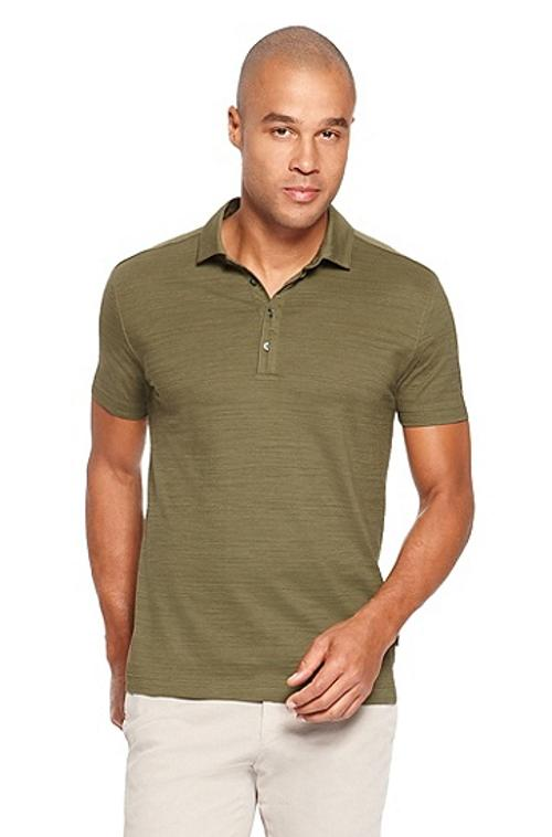 'Fontana' Regular Fit, Cotton Layered Placket Polo Shirt by HUGO BOSS in Million Dollar Arm