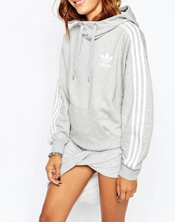 Originals 3 Stripe Pull Over Hoodie by Adidas in Keeping Up With The Kardashians