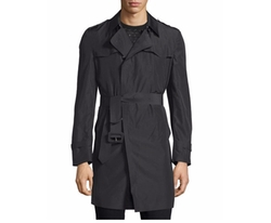 Long-Sleeve Belted Rain Coat by Costume National  in Guilt