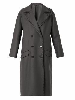 Double-Breasted Cashmere and Wool Coat by Bottega Veneta in The Hundred-Foot Journey