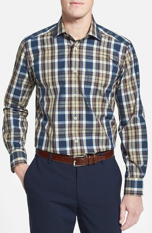 Plaid Sport Shirt by David Donahue in Ricki and the Flash
