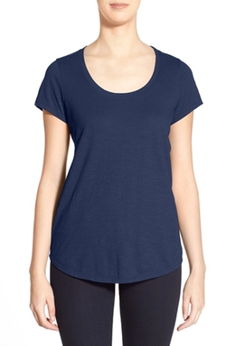 Organic Cotton Scoop Neck Tee by Eileen Fisher in Sixteen Candles