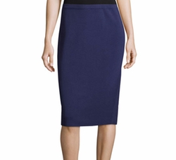 Silk-Cotton Pencil Skirt by Eileen Fisher in Suits
