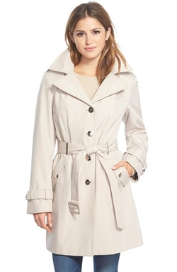 Single Breasted Belted Trench Coat by Calvin Klein in Quantico