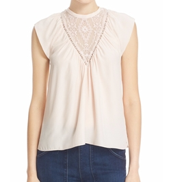 Embellished Silk Top by Rebecca Taylor in New Girl