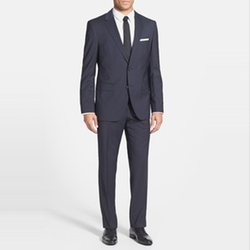 James/Sharp Trim Fit Stretch Wool Suit by Hugo Boss in House of Cards