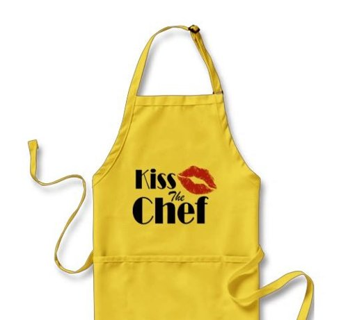 Kiss the Chef Apron by Zazzle in While We're Young