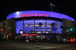 Los Angeles, California by Staple Center in Her