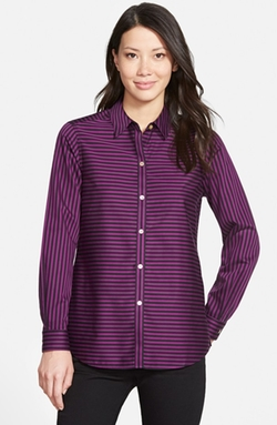 Stripe Non-Iron Cotton Sateen Shirt by Foxcroft in American Horror Story