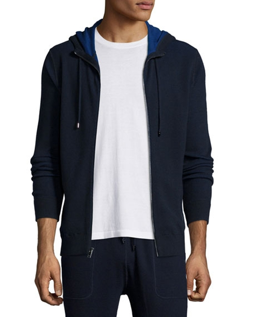 Waffle-Knit Hooded Zip Sweater by Michael Kors in Billions