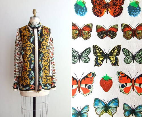 Barocco & Butterflies Print Vintage Shirt by Gianni Versace in The Counselor