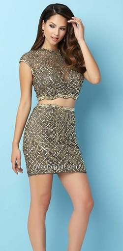 Two Piece Beaded Dress by Mac Duggal in The Bachelorette
