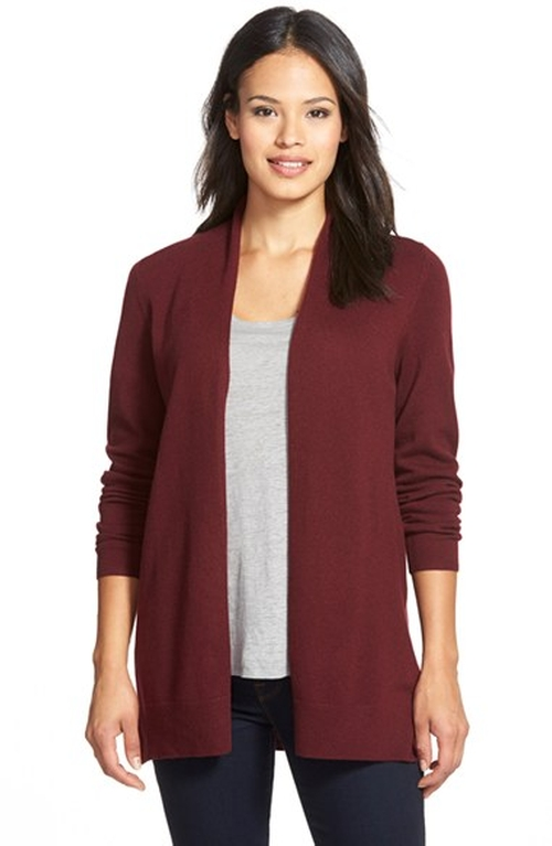 Open Front Cashmere Cardigan by Nordstrom Collection in Love the Coopers