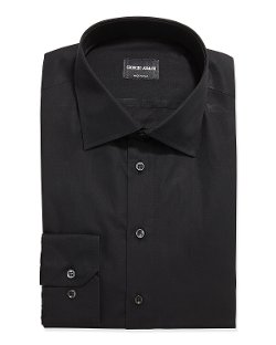 Solid Poplin Dress Shirt by Giorgio Armani in Entourage