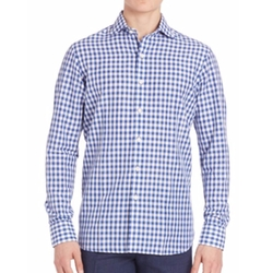 Gingham Check Sportshirt by Polo Ralph Lauren in Bastards