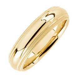 Comfort-Fit Double Milgrain Band Ring by The Men's Jewelry Store in John Wick