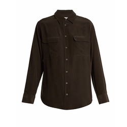 Signature Washed-Silk Shirt by Equipment in American Horror Story