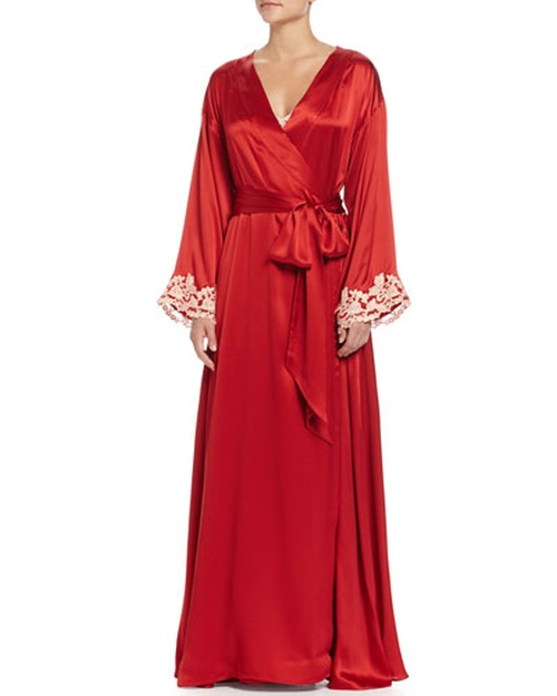 Maison Lace-Trim Long Robe by La Perla in How To Get Away With Murder - Season 2 Episode 8