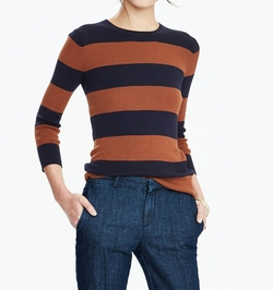 Rugby Stripe Crew Sweater by Banana Rebublic in Supergirl