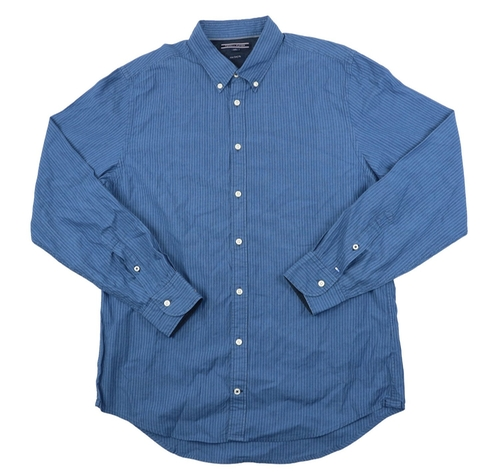 Stripe Button Down Shirt by Tommy Hilfiger in Midnight Special