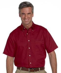 Wrinkle-Free Short Sleeve Dress Shirt by Van Heusen in Neighbors