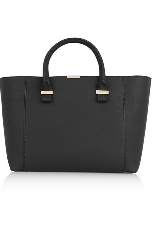 Quincy Textured Leather Tote Bag by Victoria Beckham in Elementary - Season 4 Episode 13