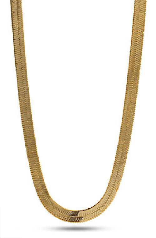 14K Gold Herringbone Chain by King Ice in Walk of Shame