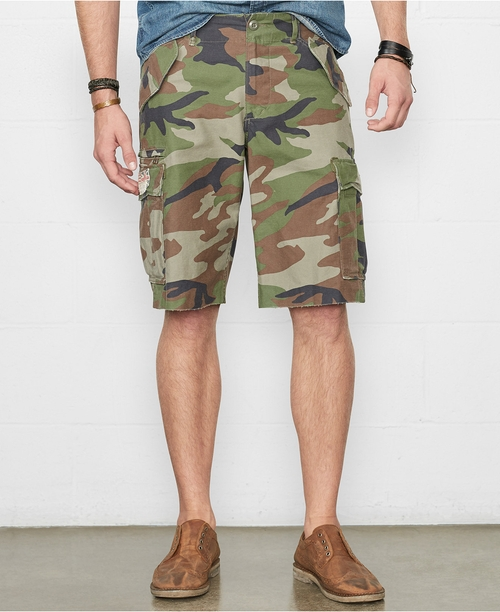 Camo Field Cargo Shorts by Denim & Supply Ralph Lauren in Hall Pass