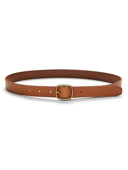 Centerbar Italian Leather Belt by Banana Republic in Supergirl