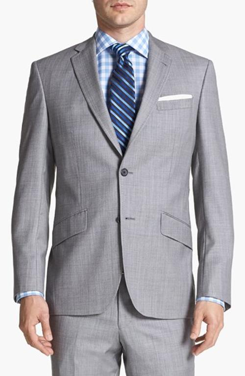 Jones Trim Fit Wool Suit by Ted Baker London in Fifty Shades of Grey
