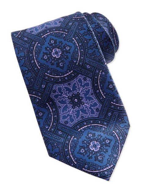 Wheel Medallion-Print Tie by Brioni in Suits - Season 5 Episode 4