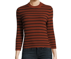 Lemdora Prosecco Striped Sweater by Theory in Quantico