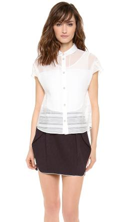 Robin Patched Shirt with Camisole by O'2nd in Little Fockers