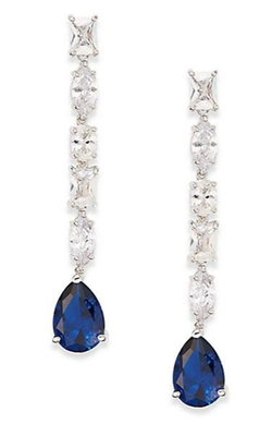 Multi-Stone Linear Drop Earrings by CZ by Kenneth Jay Lane in Crimson Peak