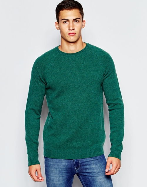 Lambswool Rich Crew Neck Sweater by Asos in Knocked Up