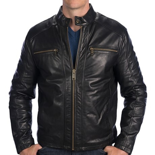 Laser Moto Leather Jacket by Marc New York By Andrew Marc in Terminator: Genisys