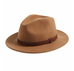 'Messer' Wool Fedora Hat by Brixton in Live By Night