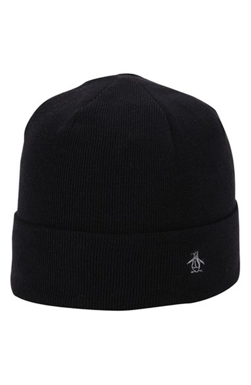 'Vincent' Knit Beanie by Original Penguin in Barely Lethal