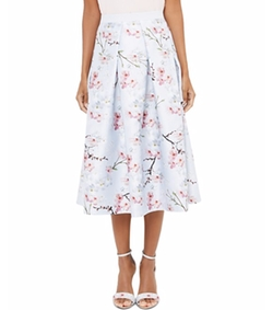 Floral-Printed Midi Skirt by Ted Baker in The Good Place