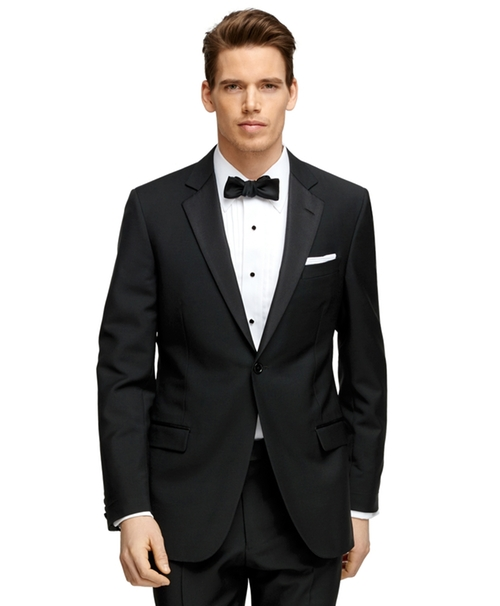 Fitzgerald Fit One-Button 1818 Tuxedo Suit by Brooks Brothers in Demolition