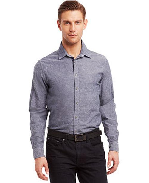 Chambray Slim-Fit Shirt by Kenneth Cole Reaction in The Best of Me