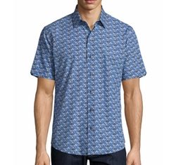 Furniss Palm-Print Sport Shirt by Zachary Prell in New Girl
