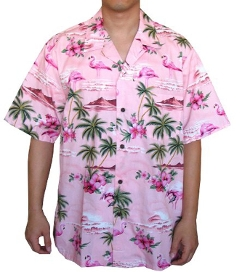 Flamingo Island Hawaiian Aloha Shirt by Alohawears Clothing Company in Masterminds