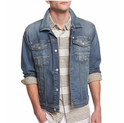 Trucker Light Wash Jean Jacket by 7 For All Mankind in Empire