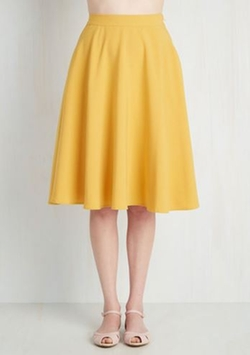Midi Skirt by Mod Cloth in Grease